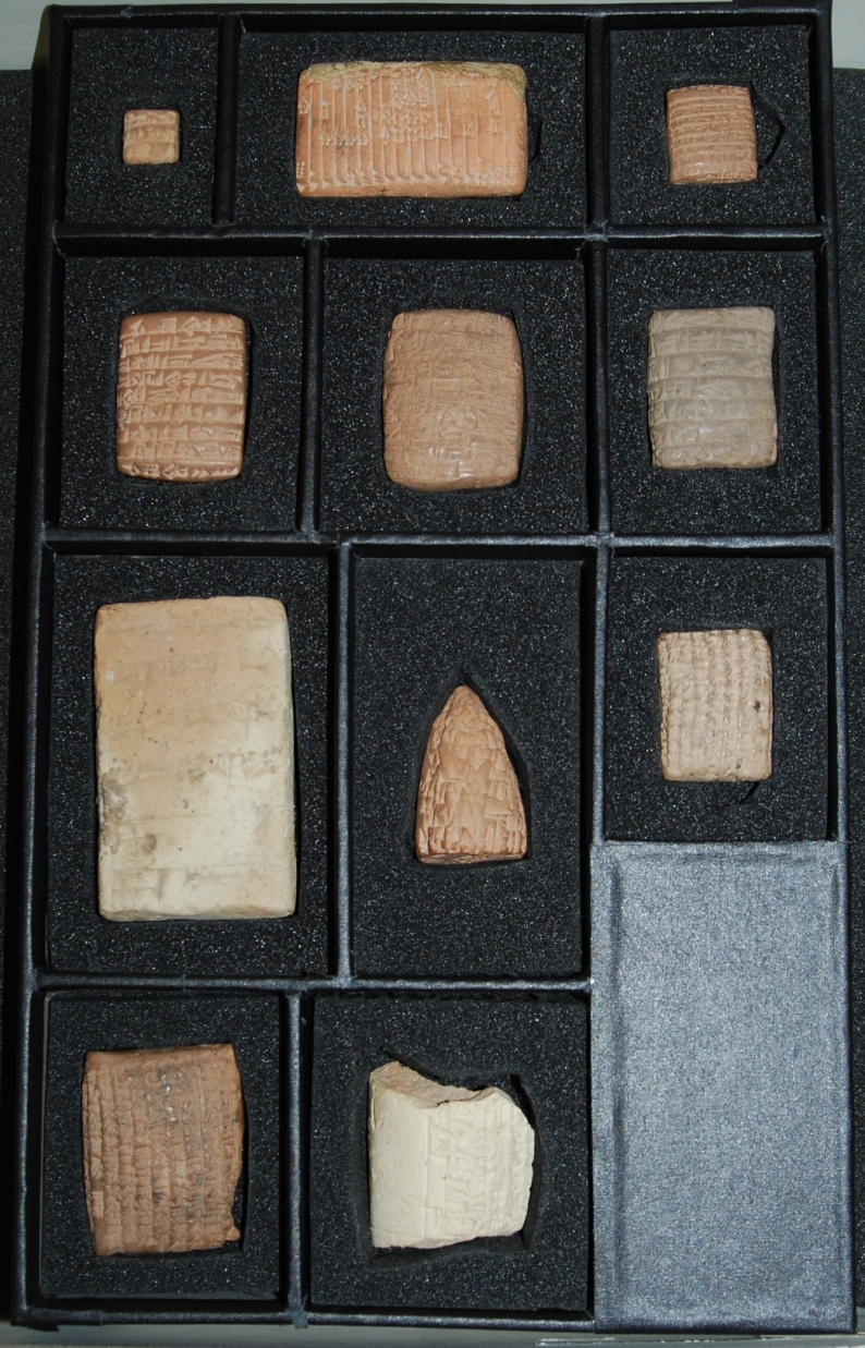 Image of box containing Spencer Library's Cuneiform Tablets