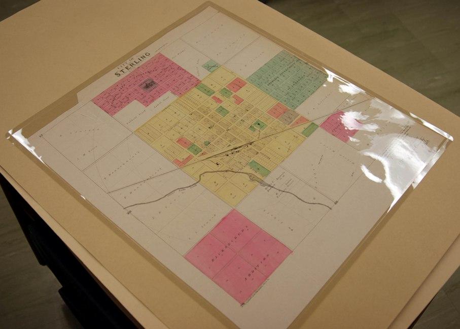 Encapsulated map of Sterling, KS from RH Atlas H85