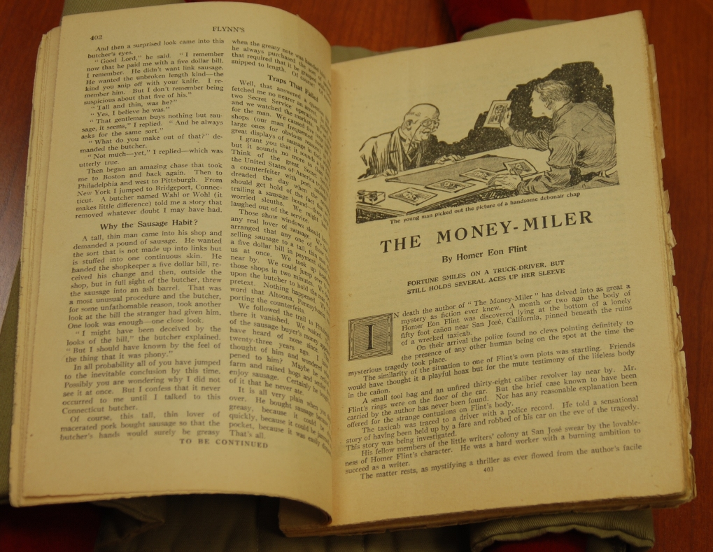 "Image of Homer Eon Flint's ""The Money-Miler"" in Flynn's"