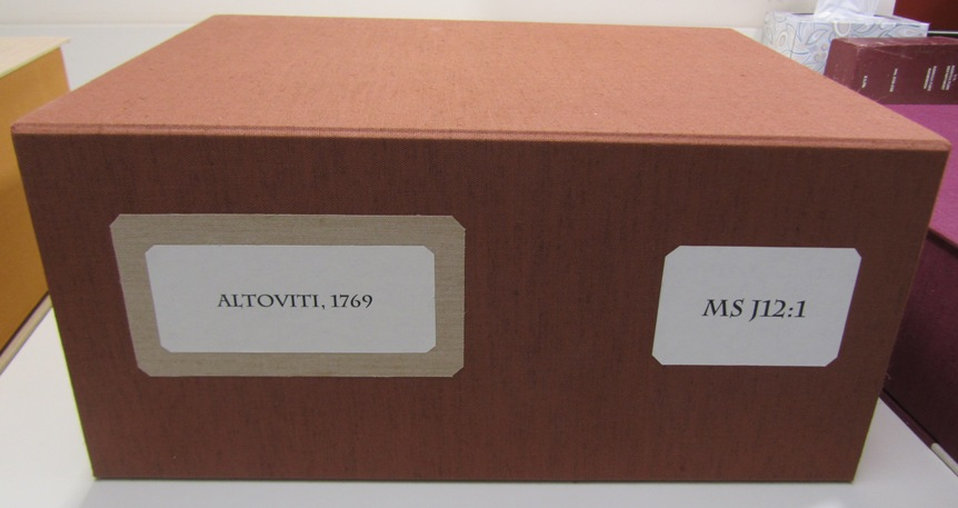 Photograph or clamshell box for MS J12:1