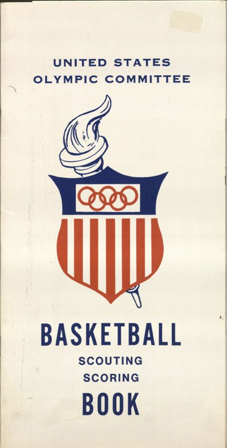 U.S. Olympic Basketball Scouting Scoring Book