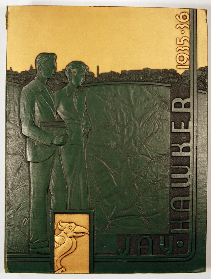 Image of Cover of 1935-36 Jayhawker Yearbook