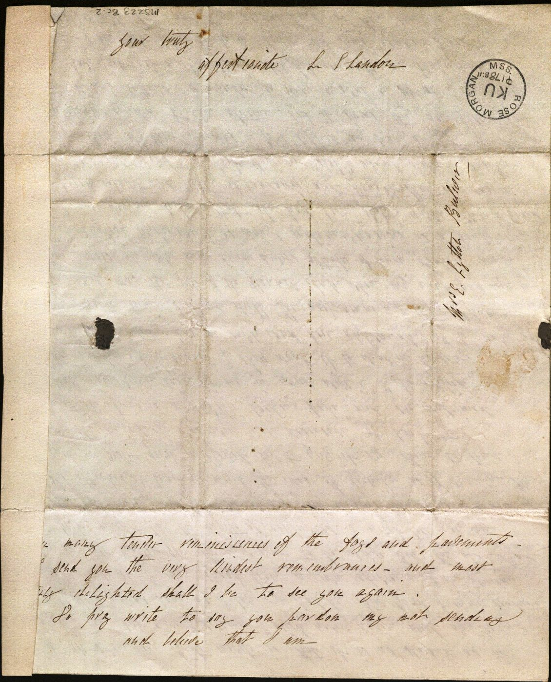 Image of Letter from L. E. L.  to Mrs. Bulwer, page 4