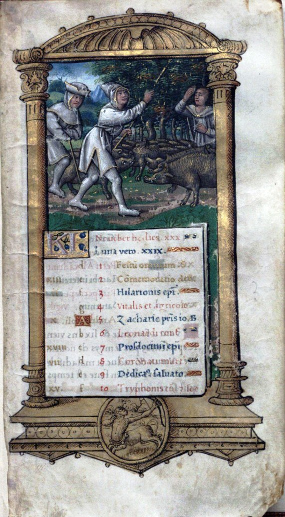 Image of Leaf from Calendar for November. France, vellum, ca. 1520?
