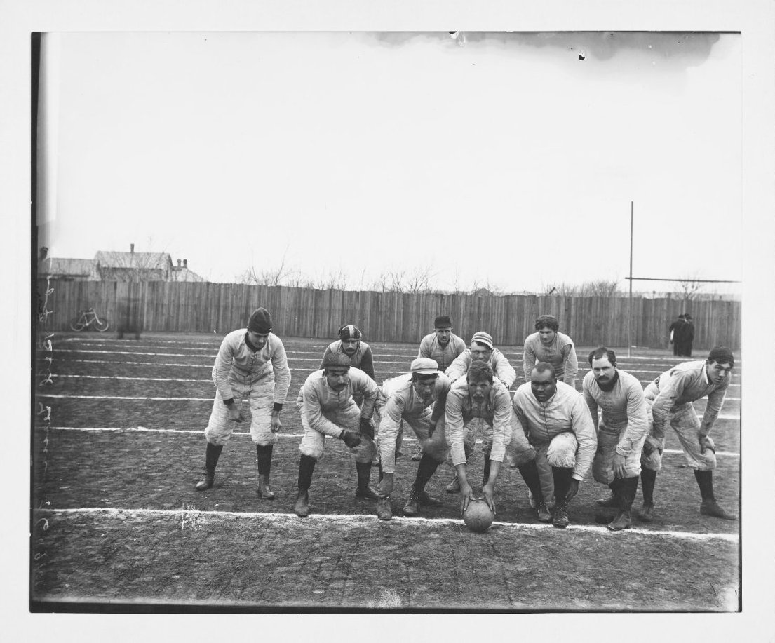 Image of Football Team Thanksgiving Day, Fort Riley.  1896.