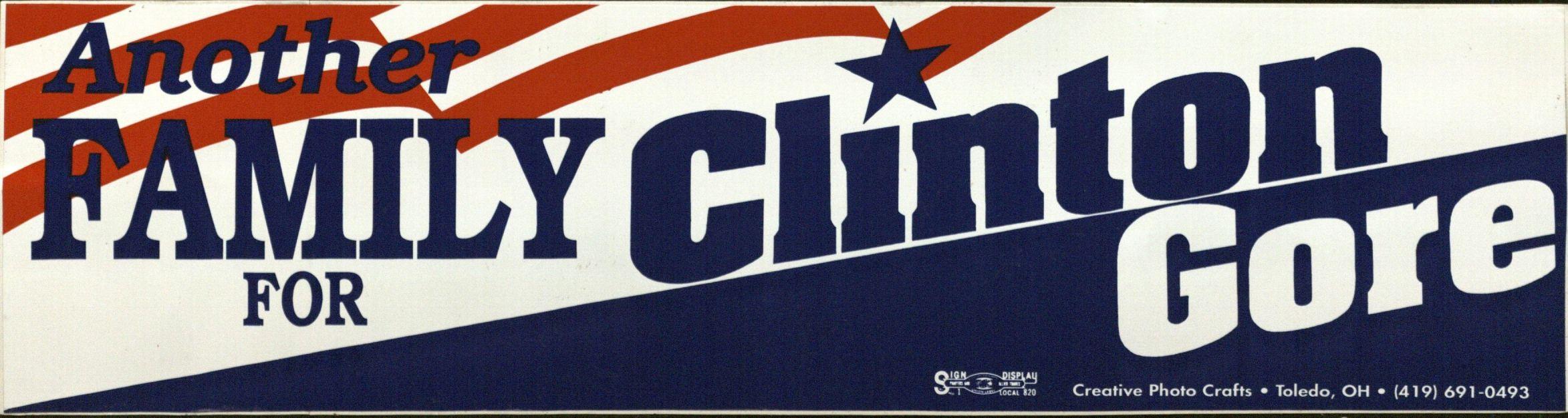 Bumper Sticker: Clinton /Gore