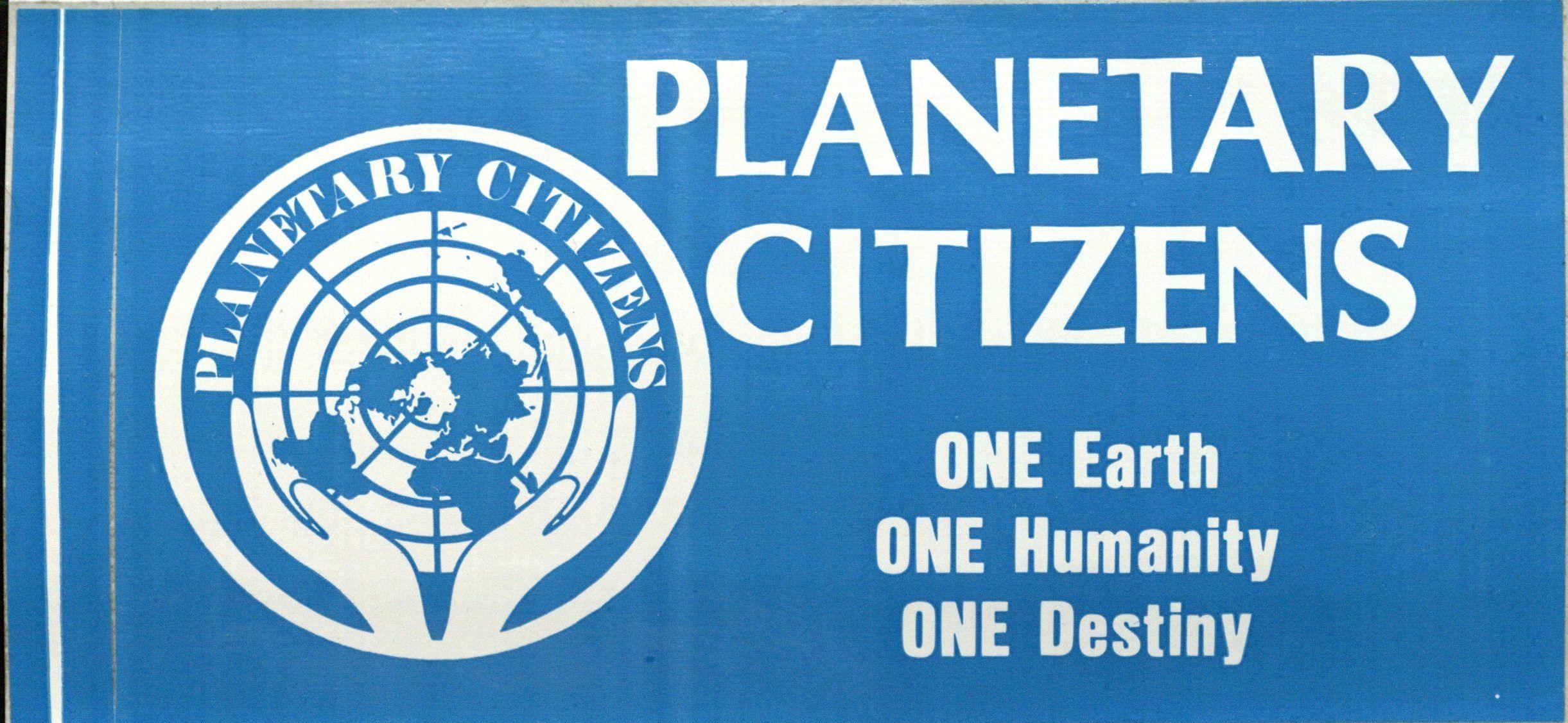 Bumper Sticker: Planetary Citizens.