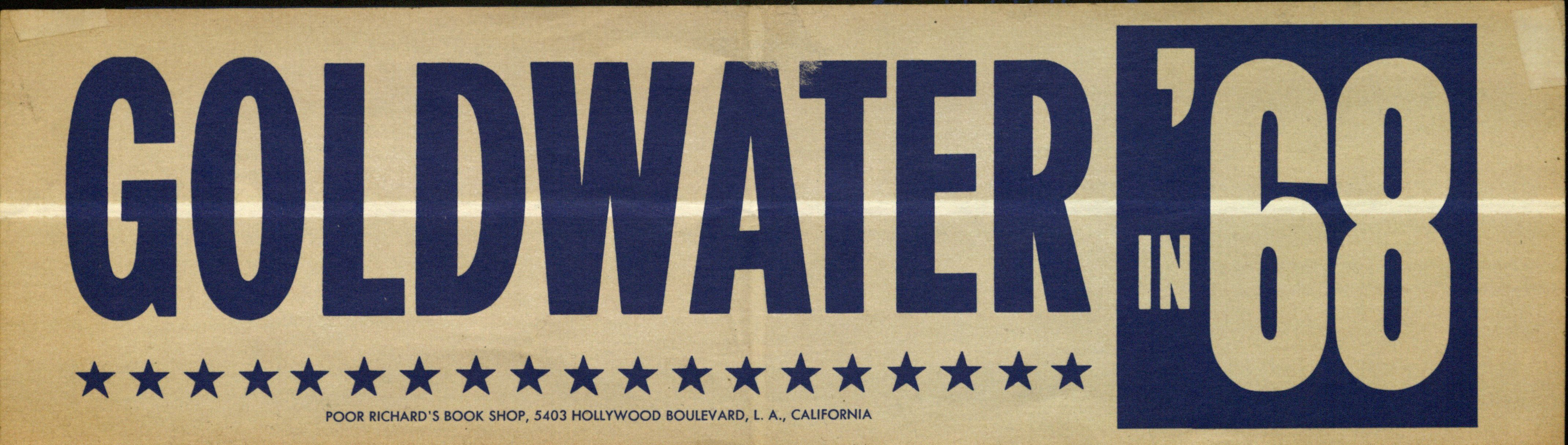 Bumper sticker: Goldwater '68