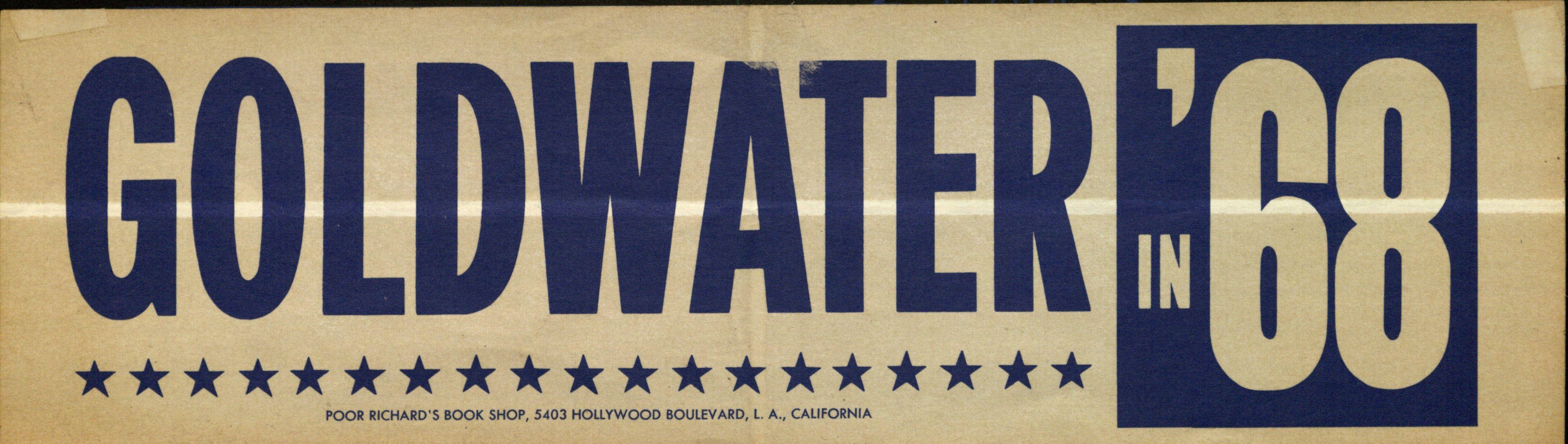 Bumper sticker: Goldwater '68