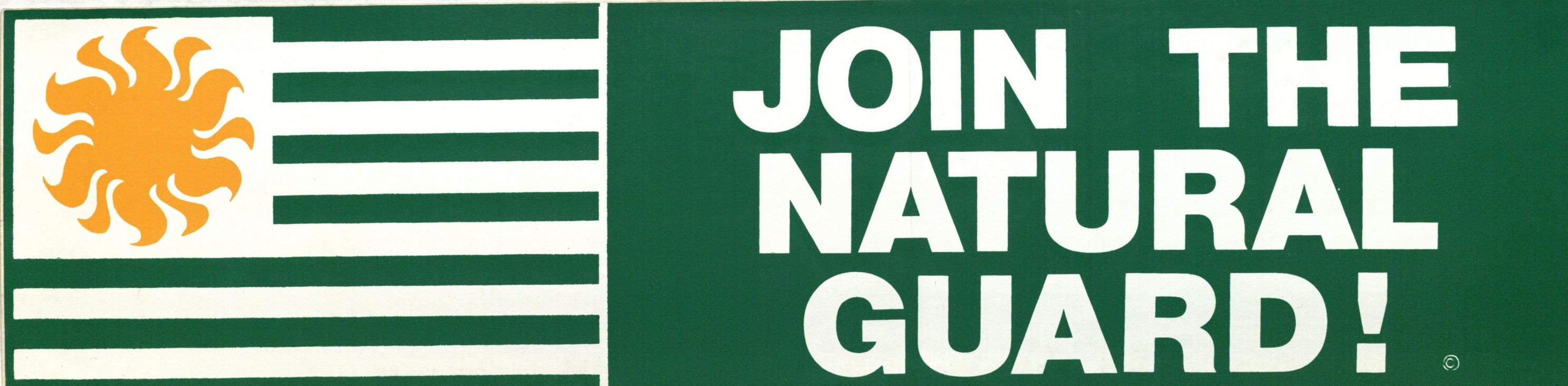 Bumper Sticker: Join the National Guard