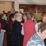 Image of crowd at Exhibition Opening: 100 Years of Jayhawks, 1912-2012