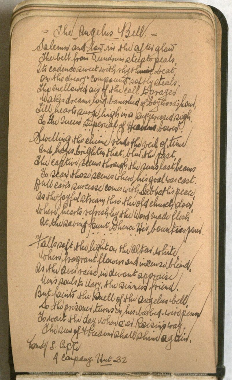 "Page containing the poem ""The Angelus Bell"""
