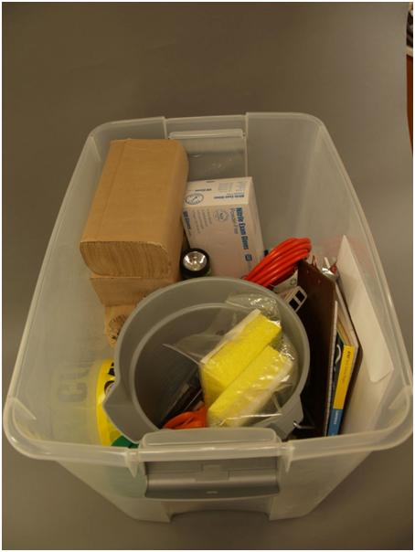 Image of Disaster Kit Contents