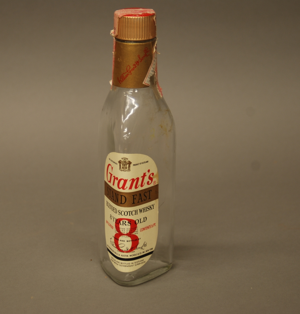 Image of whisky bottle found during construction at the Kenneth Spencer Research Library.
