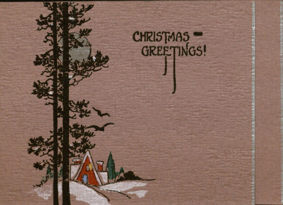 "Holiday Card, 1925: ""Christmas Greetings!"""