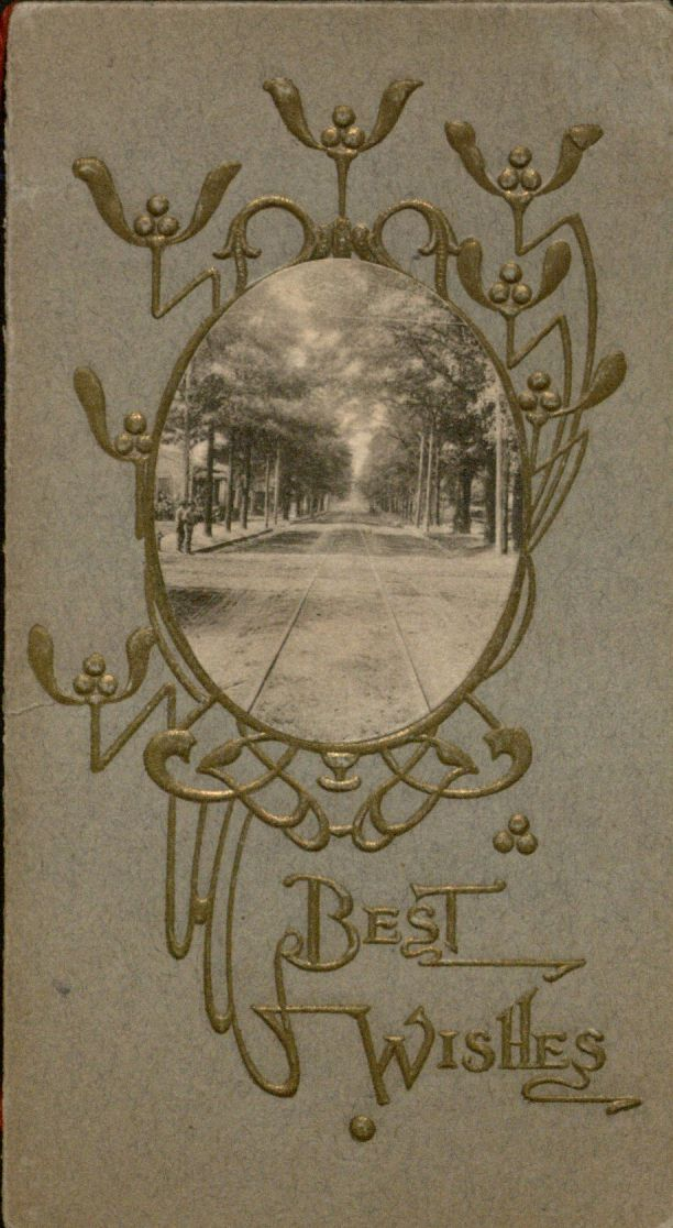 """Best Wishes"": front of Holiday card."