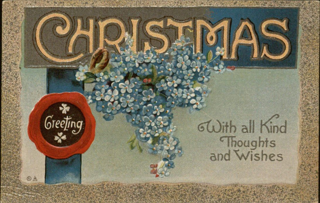 """Christmas Greeting"" holiday postcard, 1913"