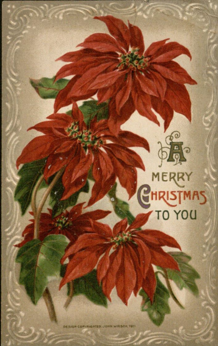"""A Merry Christmas to You"" Christmas card, 1918"