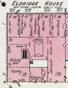 Eldridge House from Sanborn map