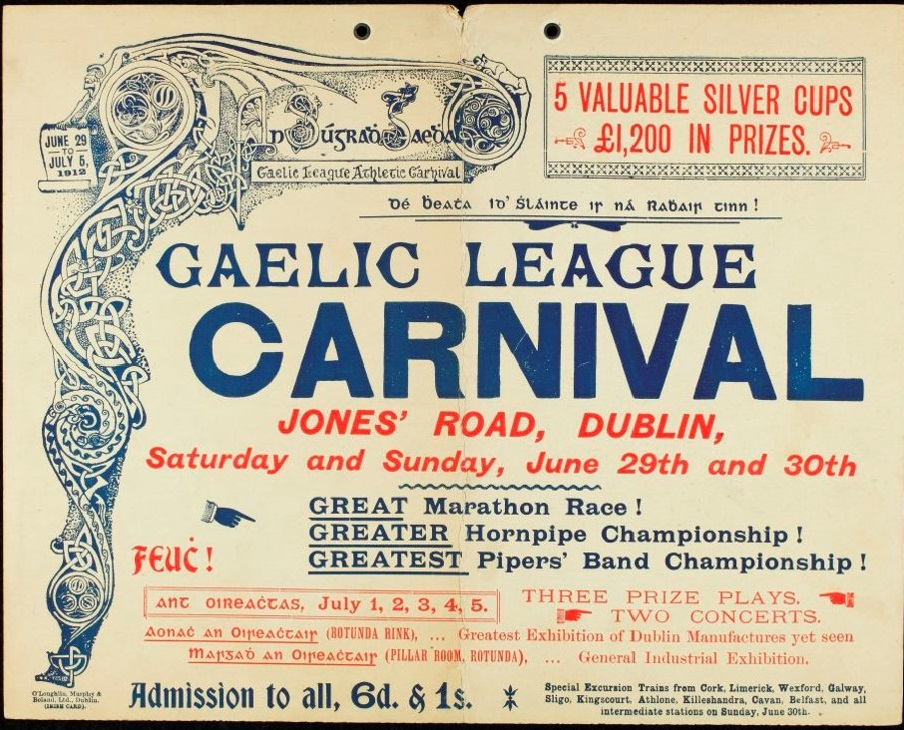 Poster for Gaelic League Carnival (Oireachtas)