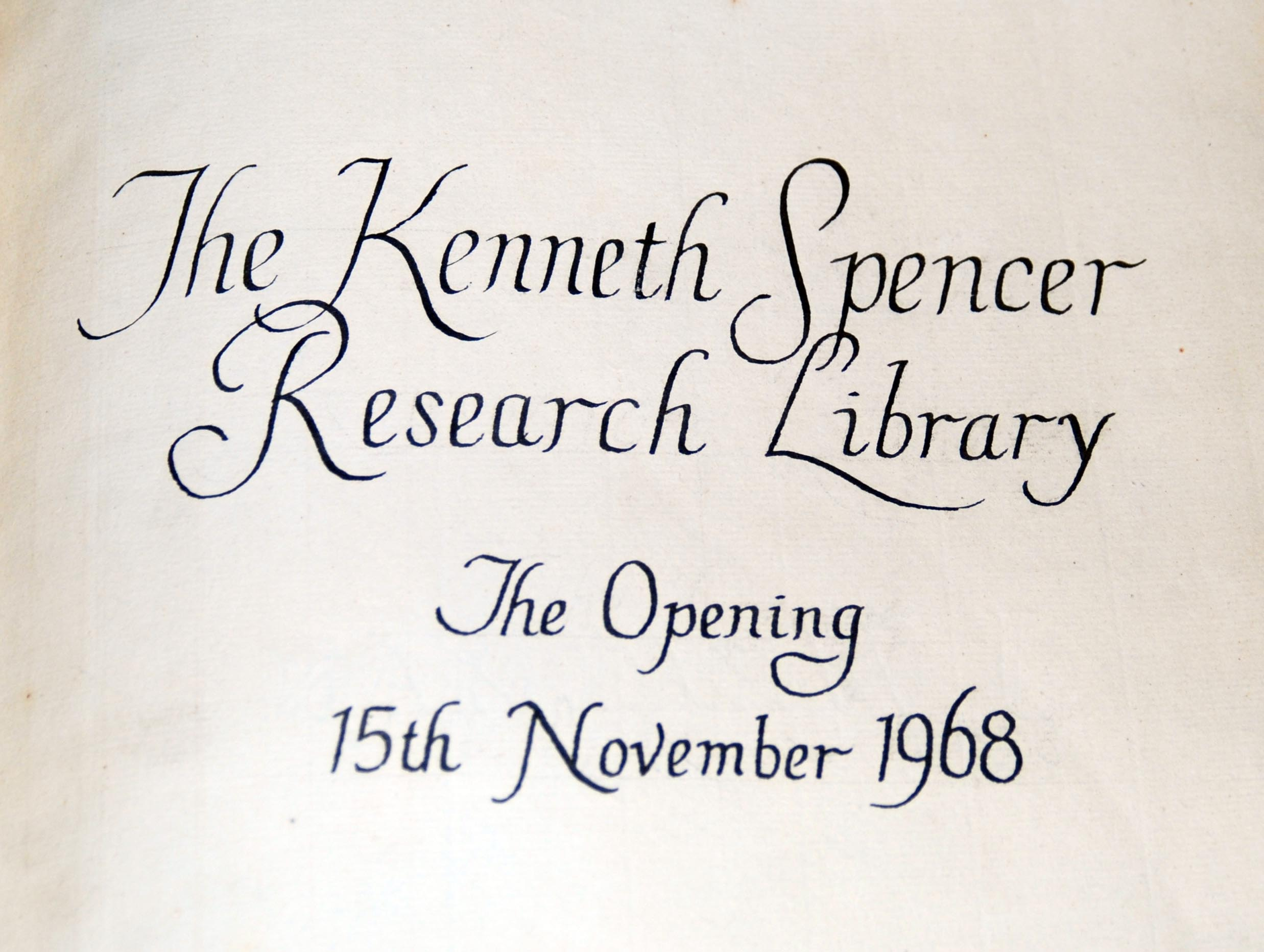 Detail of guest book at Kenneth Spencer Research Library, University ...