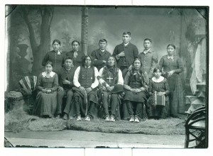 Photograph of a Native American family