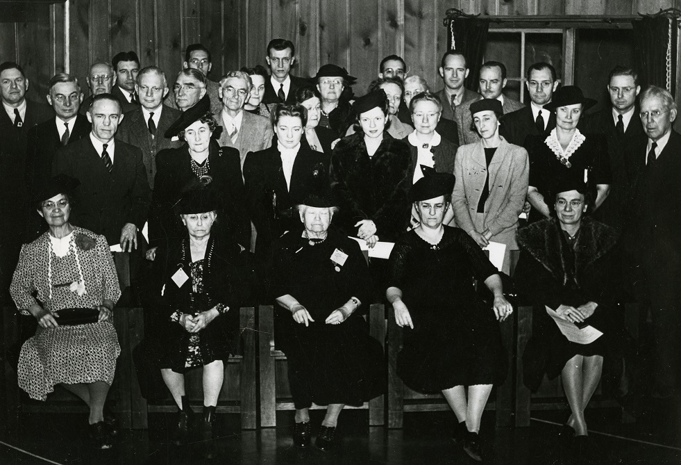 Photograph of representative members of the previous 75 classes at the November 9th conclave.