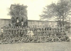Student Army Training Corps classes, KU Campus. University Archives, Kenneth Spencer Research Library. Call number 29.0.