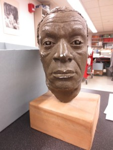 Photograph of a bust of Moses Gunn