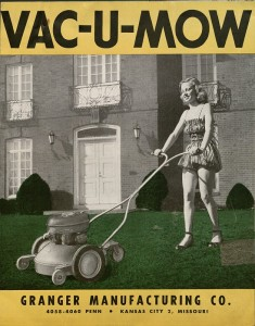 Vac-U-Mow advertising brochure, Granger Manufacturing Company, page 1