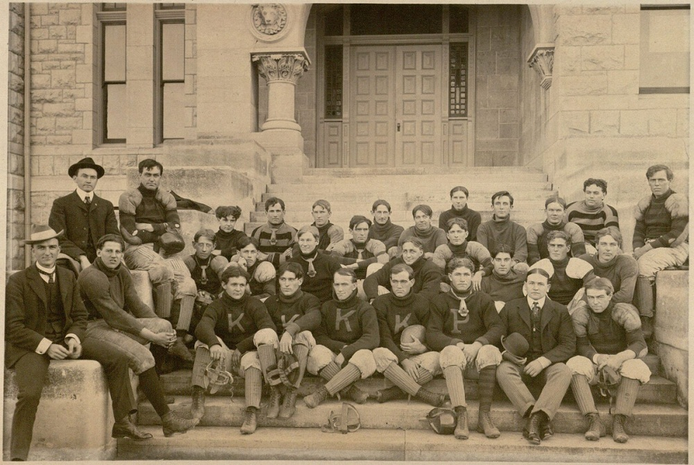 Photograph of the KU football team, 1901