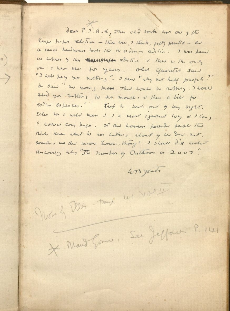 research paper on william b yeats Works of william blake rare book for sale  limited large-paper first  this edition was informed by wb yeats' own extensive research on symbolism and.
