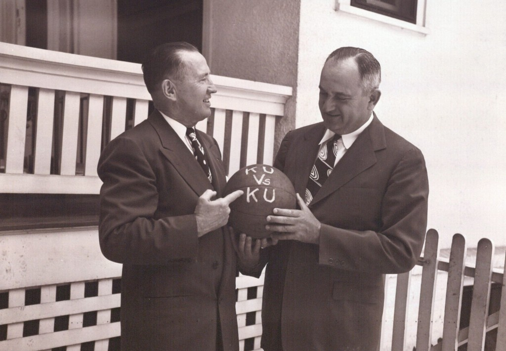Photograph of Phog Allen and Adolph Rupp