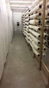 Rolled textile storage