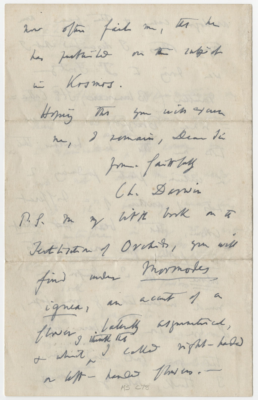 a creative letter to charles darwin an english scientist A letter written by charles darwin, twice stolen, returns to the smithsonian after being snatched by an intern in the mid 1970s, the missive written by the scientist returns to washington.