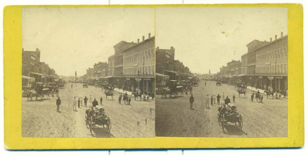 Photograph of Massachusetts Street, Lawrence, Kansas, 1867