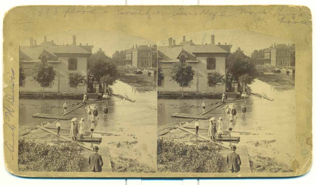 Photograph of a flood in Abilene, Kansas, 1903