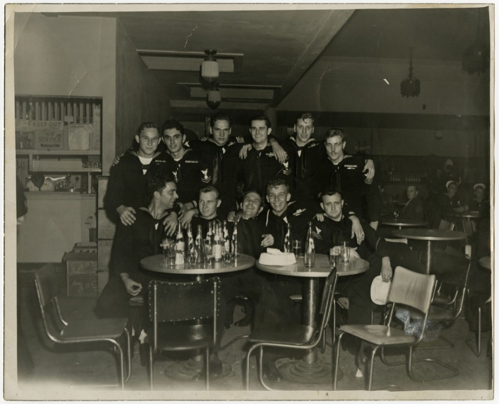 Photograph of Leo W. Zahner, Jr. and other sailors, 1946