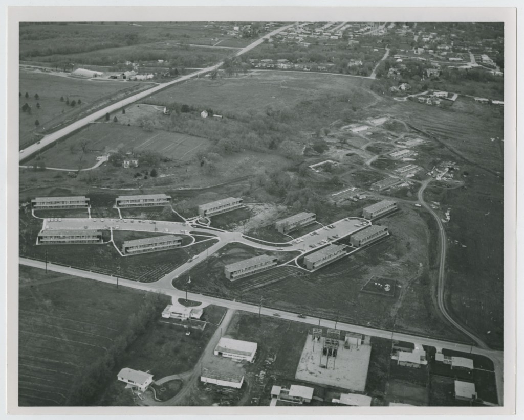 Aerial photograph of Stouffer Place, 1950s