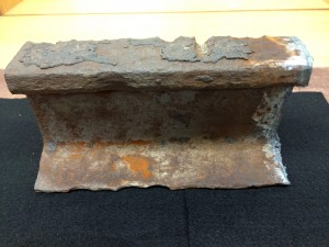 KU streetcar rail fragment view 1