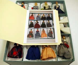 Zodiac Club doll collection, after rehousing, Kansas Collection