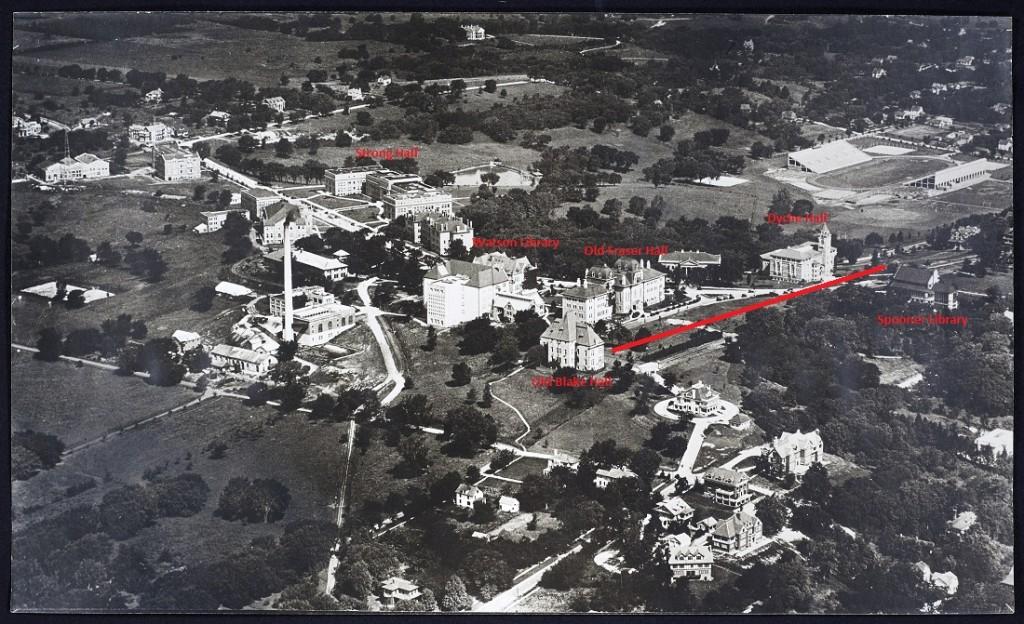 Campus aerial, 1920s