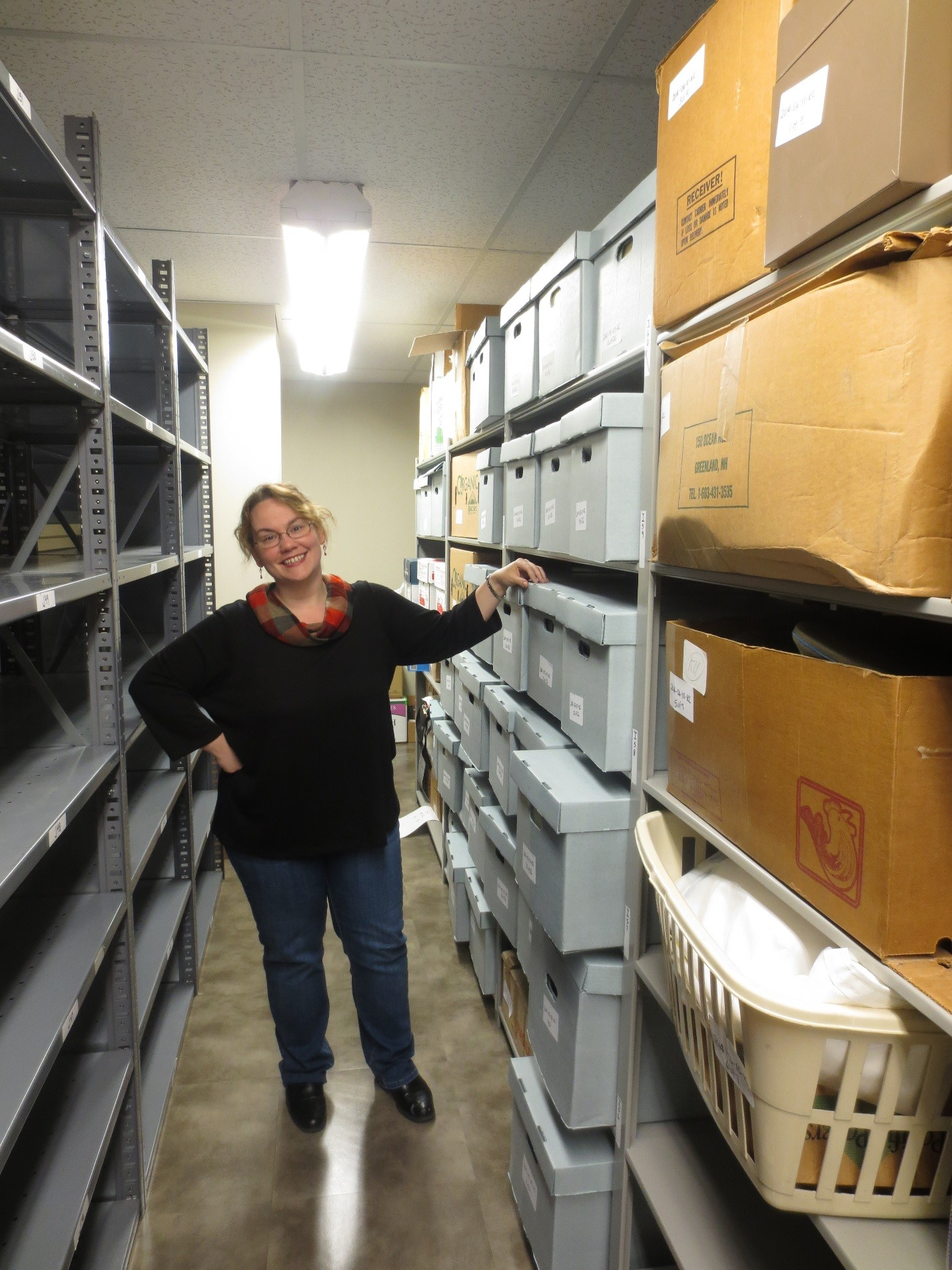 Marcella Huggard. Archives Manuscript Coordinator