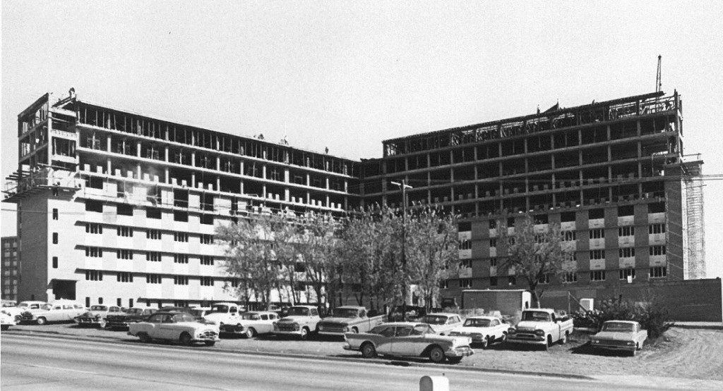 Photograph of construction on McCollum Hall, 1965