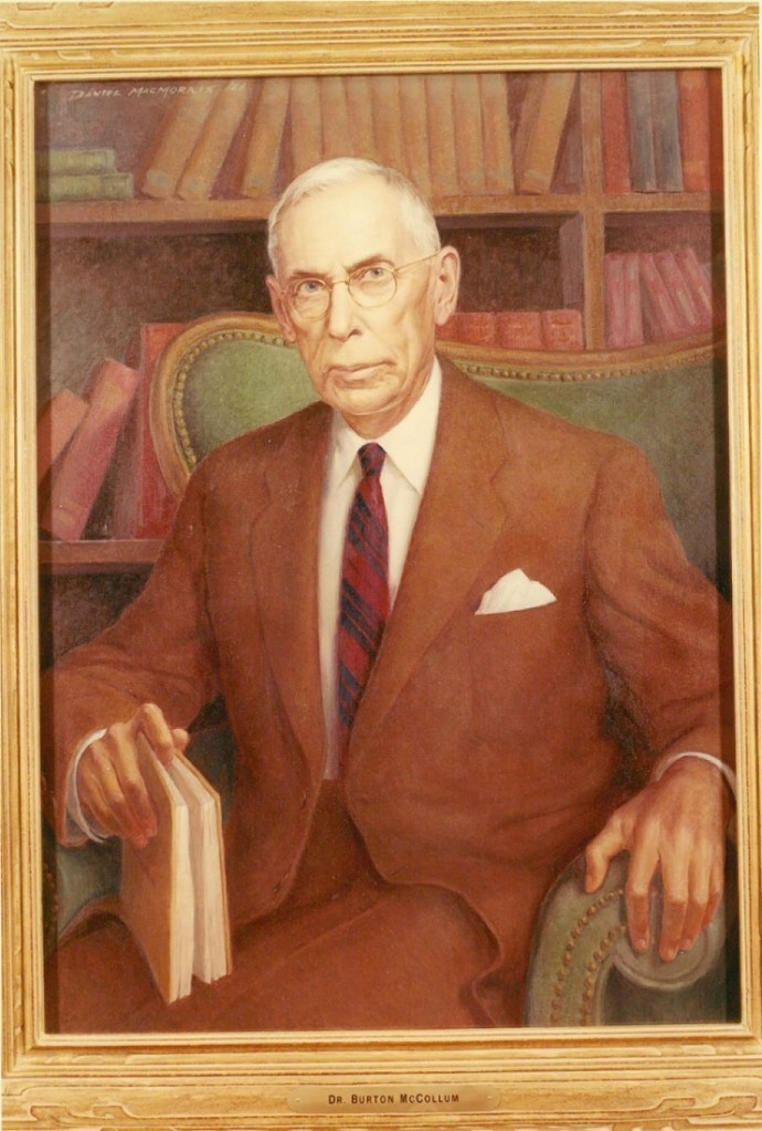 Painting of Burton McCollum