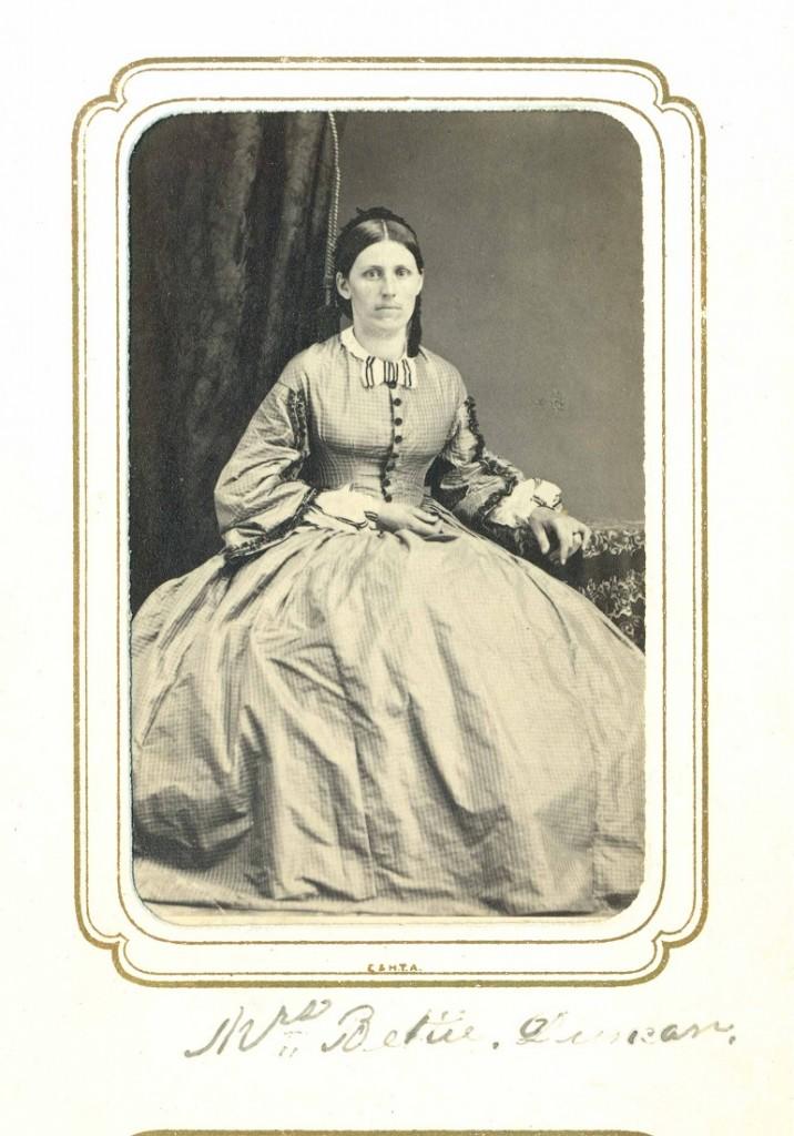 Photograph of Elizabeth Duncan, circa 1860-1865