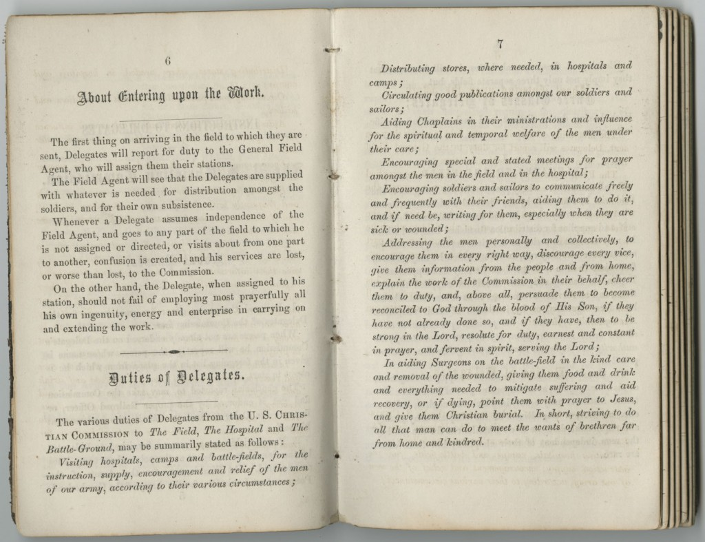 "Image of Francis Snow's journal, ""Duties of Delegates,"" August 1-September 14, 1864"