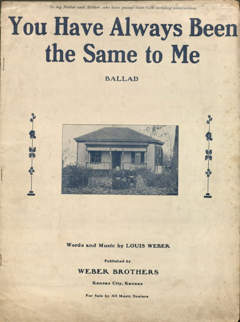 "Image of a sheet music cover, ""You Have Always Been the Same to Me,"" 1912"
