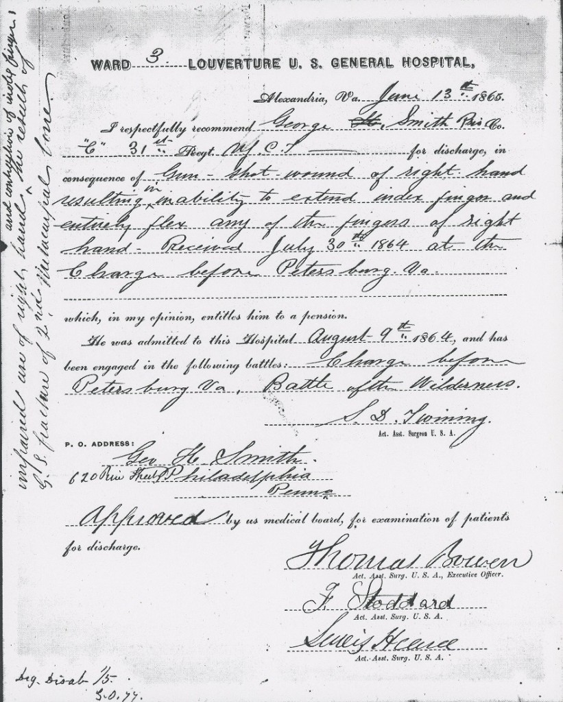 Image of NARA George Smith service file