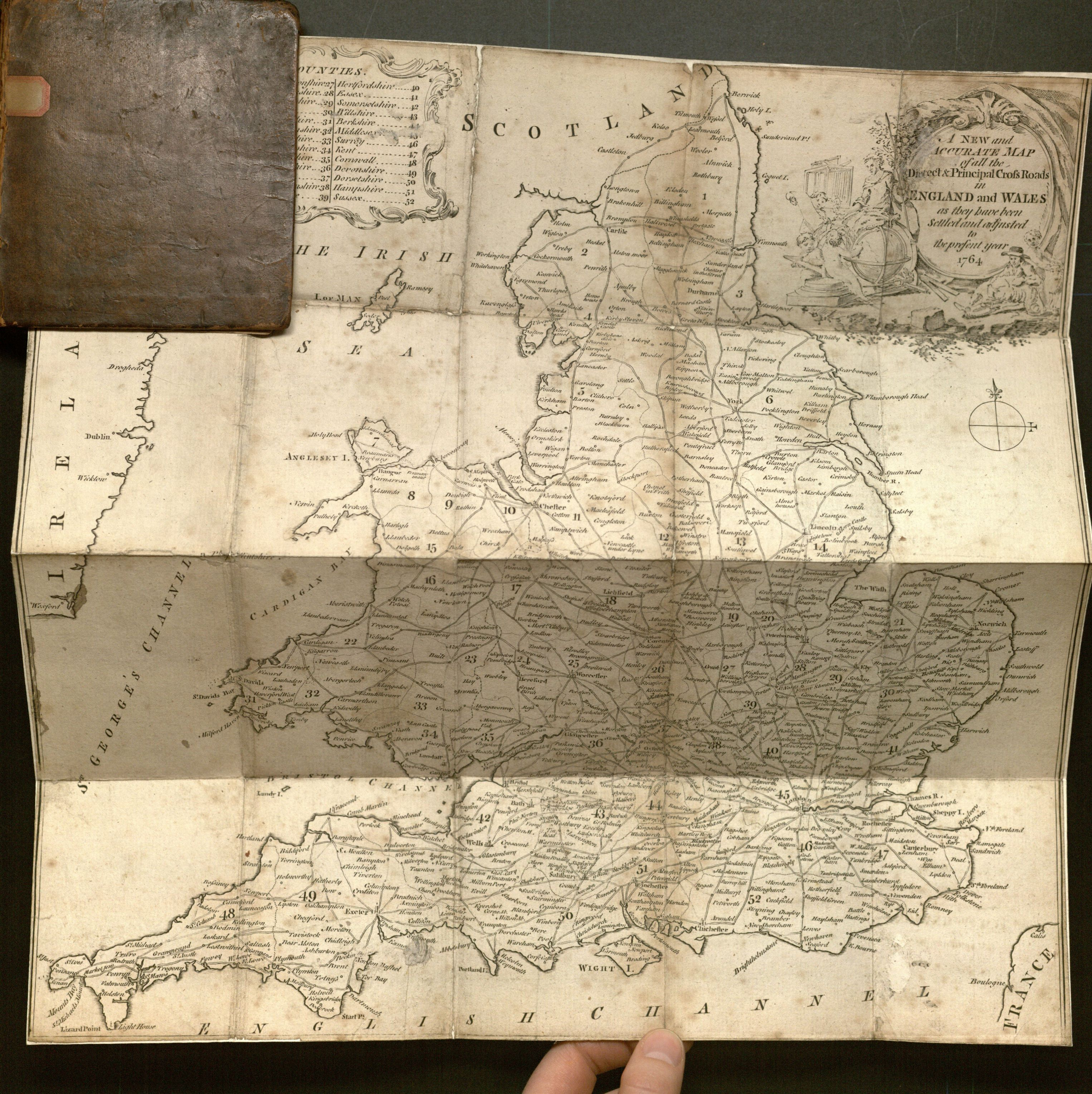 Open map for The traveller's pocket-book: or, Ogilby and Morgan's book of the roads improved and amended.